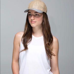Rare Lululemon festival straw baseball hat.